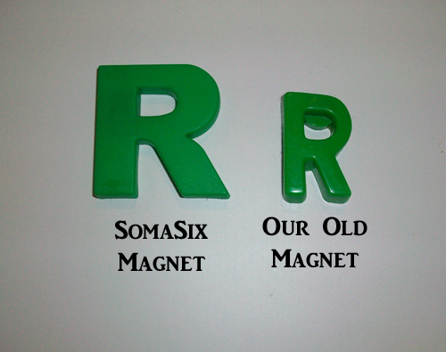 Comparison of Somasix Refrigerator Magnets to Other Ones