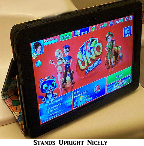 Finitie Tablet Cover for Kindle HDX Stands Up