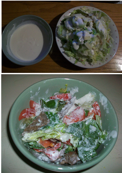 ranchdressingsalad