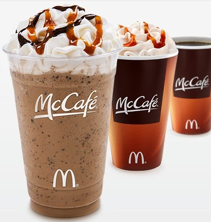 McCafe Drinks at McDonalds
