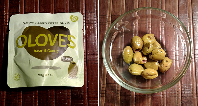 Oloves Basil and Garlic Olives in a Pouch