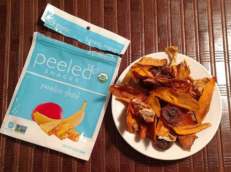 Peeled Snacks Paradise Found Dried Fruit - Pineapple Banana and Mango