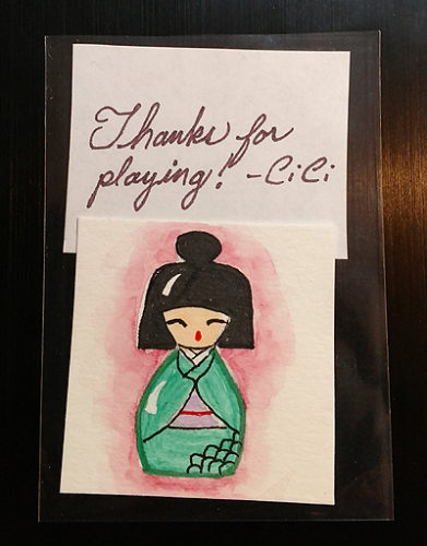 Mini Kokeshi Doll Art
