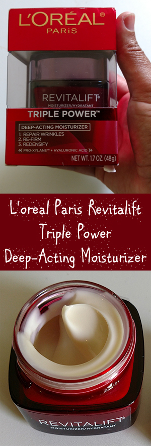 Loreal Paris Revitalift Triple Power Deep Acting Moisturizer - Anti-Aging Product Review
